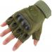 Тактические перчатки Oakley беспалые оливковые