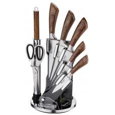 Набор ножей на магнитной подставке 9 предметов Edenberg EB-913
