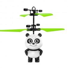 Летающая панда интерактивная сенсорная Flying Panda Черно-белая