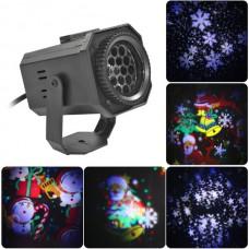Проектор калейдоскоп из 11 узоров анимационных новогодних персонажей LIGHTER