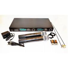 Радиосистема двухканальная беспроводная микрофоннаярадиомикрофон SHURE LX-88-III 2 микрофона в кейсе