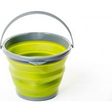 Ведро складное походное силиконовое 10 л Tramp зеленый