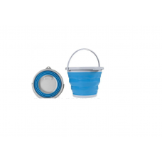 Ведро складное походное силиконовое 10 л Tramp голубое