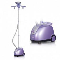 Отпариватель вертикальный пароочиститель DSP KD-6015 со стойкой для одежды 1800 Вт Фиолетовый