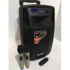 Колонка с аккумулятором SL10-01 TEMEISHENG с 2 радиомикрофонами