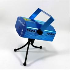 Проектор лазерный звездный уличный наружный внутренний 6 в 1 Mini Laser Stage Lighting Новогодние Рисунки