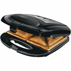 Электрогриль тостер бутербродница сэндвичница Domotec 1301 MS 750 Вт, Черная со съемными формами