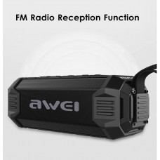 Колонка портативная Awei Y280 подключение Bluetooth Fm radio + USB и функцией Power Bank