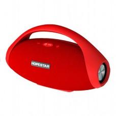 Колонка стерео портативная влагозащищенная Bluetooth Power Bank Hopestar H31 Красный