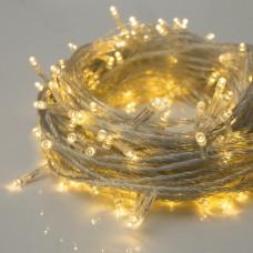 Гирлянда с прозрачным проводом 300LED золотистая Prolight