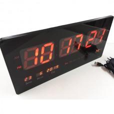 Электронные настенные LED часы VST-4622/1237 с красной индикацией
