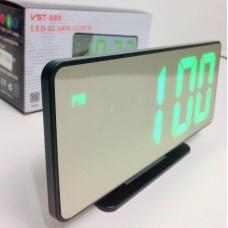 Настольные часы от сети+батарейка  VST-888