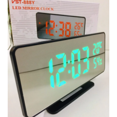 Настольные часы от сети+батарейка с термометром и датчиком влажности VST-888Y/7006