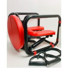 Тренажер силовой многофункциональный фитнес-стул Memos 12-88 Красно-черный