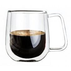 Чашка 305 мл с двойными стенками двойным стеклом A-PLUS A-7004