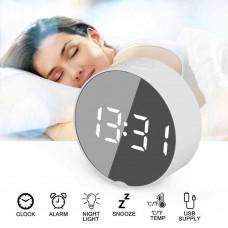 Часы LED зеркальные от USB или батарейки 3 шт ААА Model: DT-6505