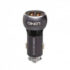 Зарядное устройство автомобильное Quick Charge LDNIO C503Q Gray