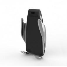 Держатель автомобильный c зарядкой беспроводной Smart Sensor S5 Black
