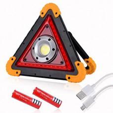 Легендарный прожектор, аварийный знак светодиодный W837-COB+35SMD RED, аккумуляторы 2x18650/4xAA в ПОДАРОК!