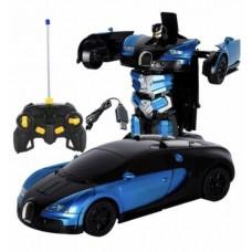 Машинка-трансформер Робот Автобот на радиоуправлении Deformation Robot Bugatti