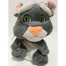 Говорящий кот Том Игрушка-повторюшка Woody Time Серый