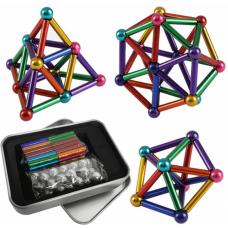 Игрушка-конструктор головоломка Неокуб в боксе 36 магнитных палочкек и 27 шариков Neocube 7415