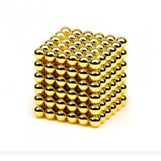 Игрушка-конструктор головоломка Неокуб 216 магнитных шариков 5 мм в коробке золотой Neocube