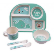 Посуда детская набор из бамбукового волокна 5 предметов Eco Friendly Кит