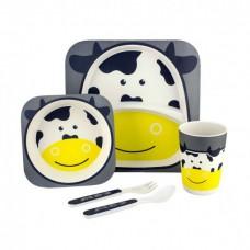 Посуда детская набор из бамбукового волокна 5 предметов Eco Friendly Корова