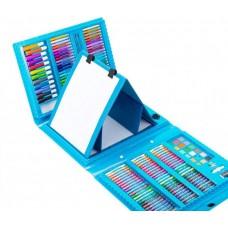 Набор для рисования Набір для малювання Чемодан творчества в чемоданчике 208 шт для мальчиков Голубой Art Set