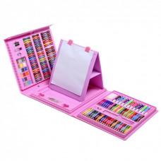 Набор для рисования Набір для малювання Чемодан творчества в чемоданчике 208 шт для девочек Розовый Art Set