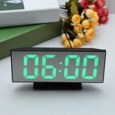 Часы электронные с термометром зеркальные настольные LED VST 3618-L с зеленой индикацией