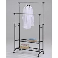 Телескопическая стойка-вешалка для одежды с двумя полками для обуви Casual Hanger