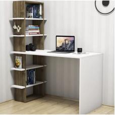 Стол компьютерный письменный NONA Dan 13 Венге и Белый