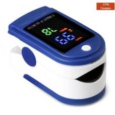 Пульсометр-оксиметр пульсоксиметр на палец Jziki LYG-88 синий