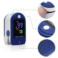 Пульсометр-оксиметр пульсоксиметр на палец Jziki LYG Синий