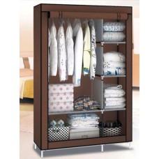Шкаф тканевый складной раскладной на две секции HCX 105х45х170 см Brown