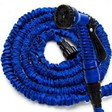 Шланг для полива X HOSE 15 м поливочный растягивающийся с распылителем Blue