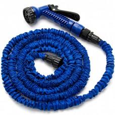 Шланг для полива X HOSE 22,5 м поливочный растягивающийся с распылителем Blue