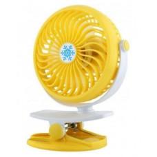 Вентилятор аккумуляторный на прищепке настольный Mini Fan Clip ML-F168 Желтый