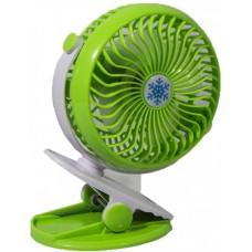 Вентилятор аккумуляторный на прищепке настольный Mini Fan Clip ML-F168 Зеленый