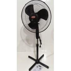 Вентилятор напольный бытовой разборной 3-х лопастный диаметром 43 см WIMPEX WX-1611 100 Вт Black