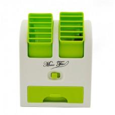 Вентилятор с увлажнителем и ароматизатором мини-кондиционер Mini Fan HB-168 Зеленый