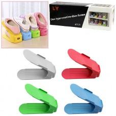 Подставка органайзер 4 шт. этажерка для обуви комплект SHOES RACKS Разноцветные