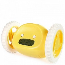 Убегающий будильник Alarm Clocky Run на колесиках Yellow