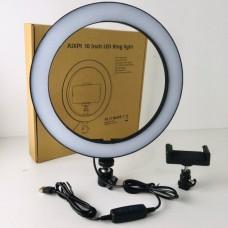 Вспышка-подсветка селфи-кольцо 26 см кольцевой свет 3 режима яркости света Aixpi BL210