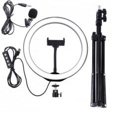 Набор блогера 3в1: Штатив для телефона, Кольцевой свет, микрофон петличный WOW Kombi