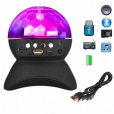 Диско шар музыкальный светомузыка с Bluetooth, USB, MP3, TF, FM, AUX DMX L-740 Black