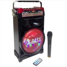 Колонка караоке Комбик Bluetooth MP3 FM Радиомикрофон Пульт ДУ Акустическая система NNS 1388BT