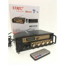 Усилитель звука стереоусилитель UKC SN-222BT с Bluetooth, Караоке, FM, USB, 2*20 Вт и пультом ДУ